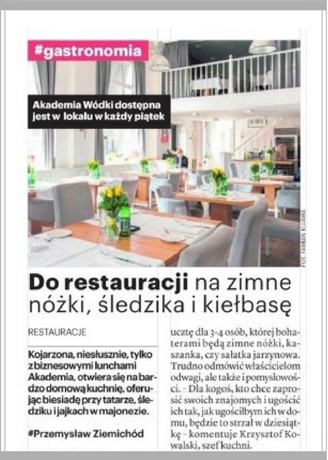 Nasze Miasto Warszawa,WHERE TO EAT WELL IN WARSAW? Restaurant Akademia