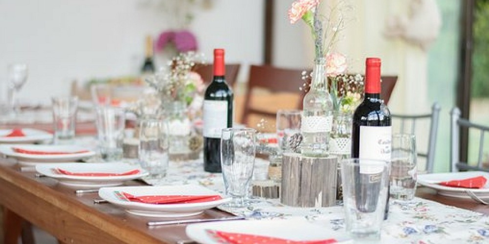 akademia, dekoracja stołu