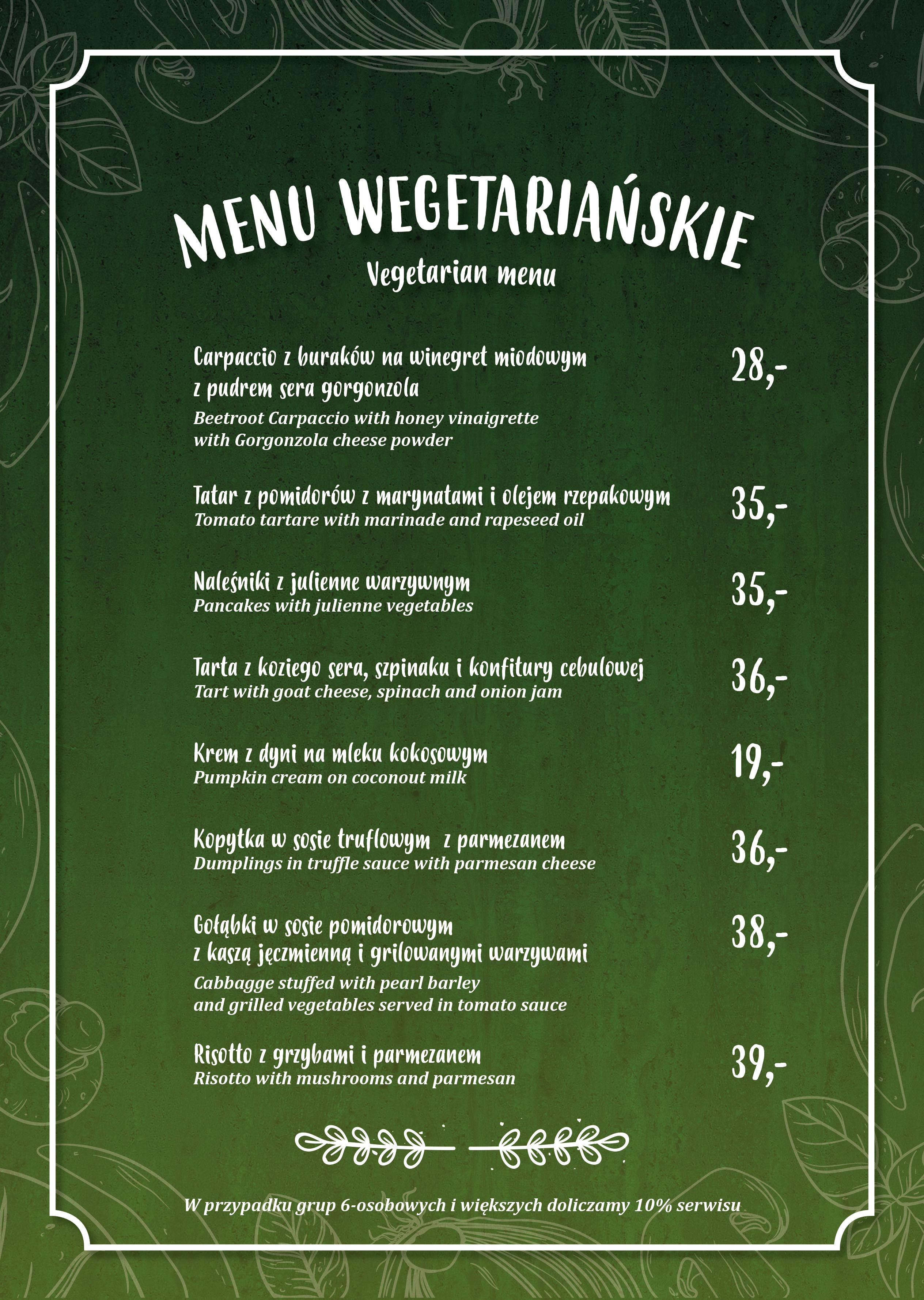 Nowe menu wegetariańskie w Akademii