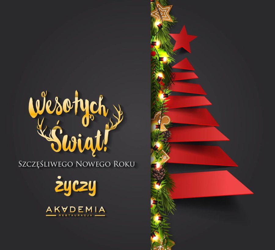 Najlepsze życzenia świąteczne od Restauracji Akademia