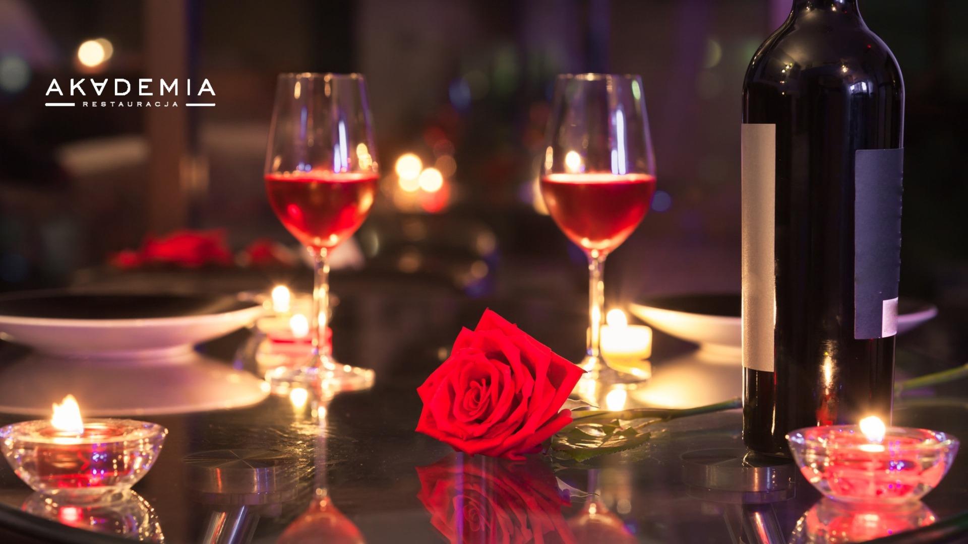 Elegancka kolacja Walentynkowa w Akademia Restauracja-2