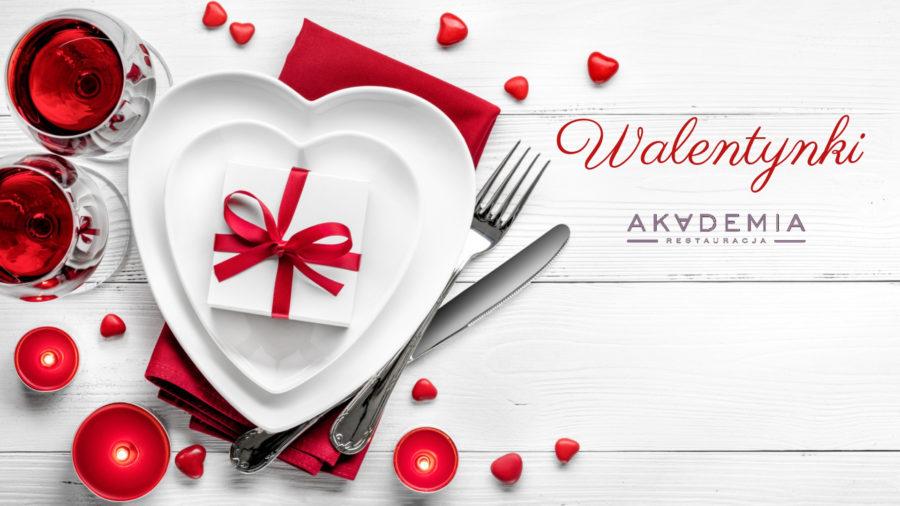 Elegancka kolacja Walentynkowa w Restauracji Akademia