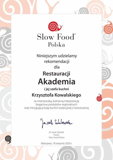 Slow Food Certyfikat