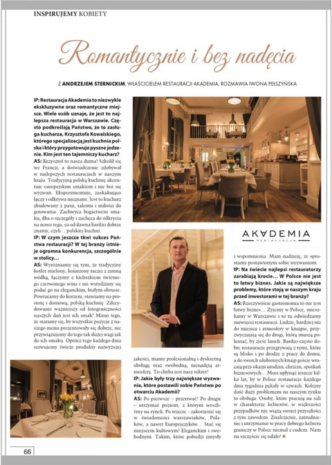 Businesswomen&Life, WHERE TO EAT WELL IN WARSAW? Restaurant Akademia