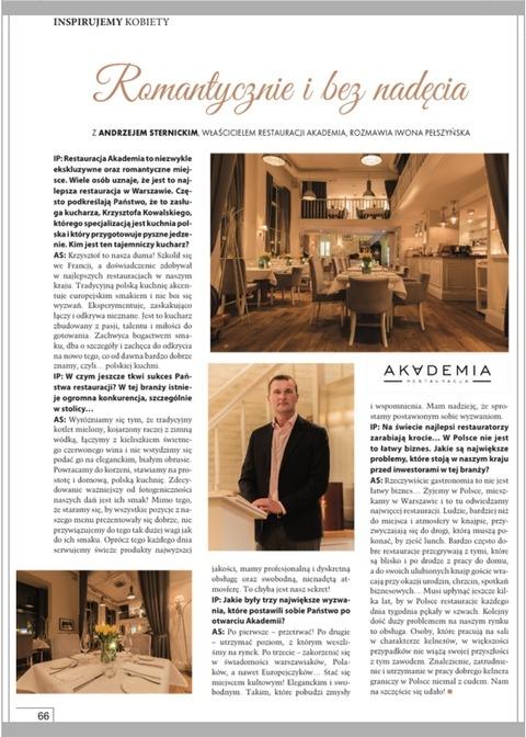 Businesswomen&Life, WHERE TO EAT WELL IN WARSAW? Restaurant Akademia